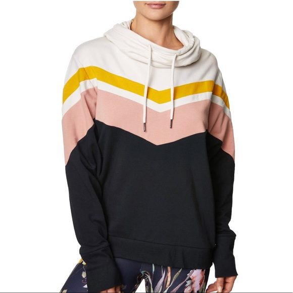 88e69092340 Betsey Johnson Sweaters - Betsey Johnson Women s Chevron Colorblock Hoodie